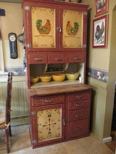 SALE ANTIQUE HOOSIER CABINET I so  want this