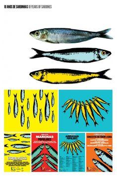 "Graphics for the ""Sardines Festival"" in June, Lisbon #Portugal"