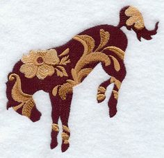 Leather Tooled Bucking Bronc Embroidered by EmbroideryEverywhere, $12.99
