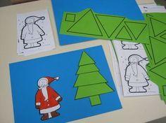 Nouveau petit découpage spécial Noël, histoire de s'entraîner encore à découper des formes simples.... Document à télécharger sous Word:...