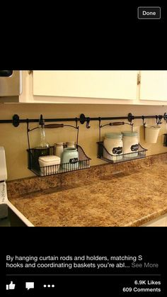 use your backsplash to store things that would otherwise be taking up valuable counter space