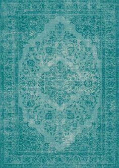 Vloerkleed Oriental azuur blauw