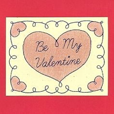 Be My Valentine Card - 5x7 | What's New | Machine Embroidery Designs | SWAKembroidery.com Starbird Stock Designs