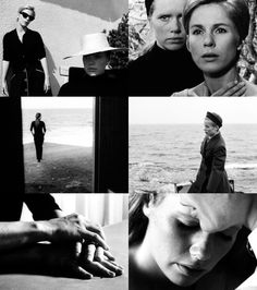 """Ingmar Bergman's """"Persona"""" Love the cinematography by Sven Nykvist, Bergman's go-to DP. I want all the present-tense scenes to emulate this aesthetic."""