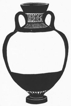 """Ancient Greece_ancient greek vase blank (students can create their own """"ancient"""" story in the blank space)"""