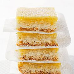 Lemon bars are the perfect summer dessert — especially if they're low in fat and calories. - Fitnessmagazine.com