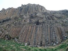 These well jointed columnar basalts are very prone to toppling due to water and material infilling joints behind the columns and undercutting of their base by translational slides within the debris mantle below. Strong wind and rain storms are often the final trigger for failure.