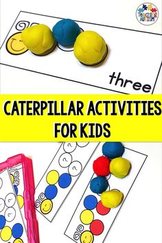 Are you looking for some fun and engaging sequencing and counting activities for your kids to go with your caterpillar unit? Your students will love these task cards. Sequencing Activities, Counting Activities, Language Activities, Therapy Activities, Classroom Activities, Autism Classroom, Educational Activities, Fine Motor Activities For Kids, Children Activities