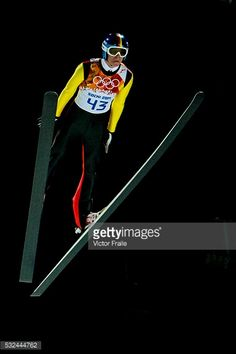 Andreas Wellinger of Germany during the Men's Normal Hill Individual of the 2014 Sochi Olympic Winter Games at Russki Gorki Ski Juming Center on...