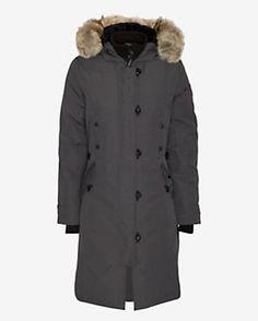 Canada Goose Kensington Fur Trim Long Jacket: Graphite Gorgeous Coat, love the warmth and minimalism!