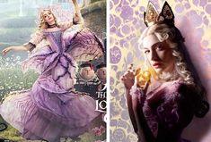 Rainha Branca Mirana (Anne Hathaway)  através do espelho, filme, figurino
