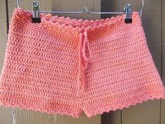 Crochet Pantaloncini alta taglio pantaloncini spiaggia
