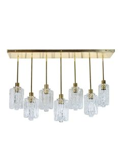 Granada Rectangular Suspended Ice Glass Chandelier by Kalmar | www.thehighboy.com