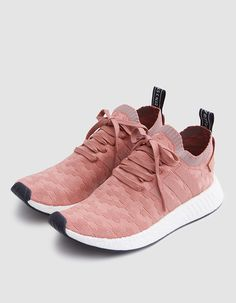 f05d719c08c38e Modern runner from Adidas in Raw Pink and Grey. Primeknit upper with  engineered graphic pattern