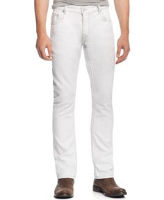 Inc International Concepts Faxon Slim-Fit White Jeans, Only at Macy's