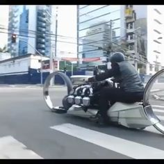 Invented an unusual motorcycle for a trip around the city - Concept Motorcycles, Custom Motorcycles, Cars And Motorcycles, Custom Street Bikes, Custom Bikes, Honda Custom, Futuristic Motorcycle, Futuristic Cars, Audi Autos