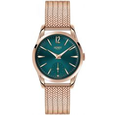 Henry London Hampstead Ladies Rose Gold Stainless Steel Mesh Bracelet Watch with Rose Gold Stainless Steel Casing - Purple Mesh Bracelet, Bracelets, Bracelet Watch, Purple Jewelry, Rose Jewelry, Gold Jewellery, Vivienne Westwood, Couleur Or Rose, London Watch