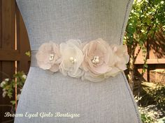 Ivory Bridal Sash Ivory Bridal Sash Ivory by browneyedgirlsboutiq This seller on Etsy has a whole bunch of great sashes in different colors.