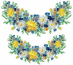 Spring Flowers Swag for & Forget Me Not, Spring Flowers, Machine Embroidery, Swag, Easter, Jewelry, Style, Jewlery, Jewels