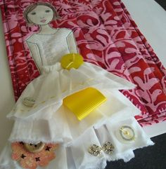 3D art quilt - thinking of doing this on a larger scale with Kat's old party dress.