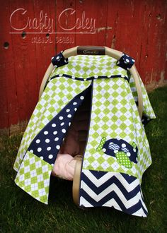 Boy Zipper Carseat Canopy with airplane applique. Features zippered front piping detail adjustable & Guitar Zipper Car Seat Canopy. MadebyCraftyColey Zipper Canopy ...