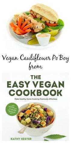 Cauliflower Po Boy - my favorite sandwich from The Easy Vegan Cookbook