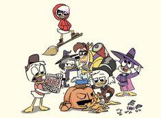 HUEY: Calm down people! Were still on September! Halloween wasnt on our schedule yet! ME: Shut up Huey. Disney Cartoons, Disney Pixar, Survival Day, Poke The Bear, Dark Wings, Three Caballeros, Uncle Scrooge, Disney Ducktales, Duck Tales