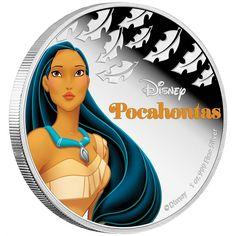 Pocahontas Disney Princess 1oz silver proof coin Niue 2016