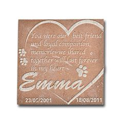 Personalized Memorial Pet Headstone Best Friend and Loyal Companion Neco Honed