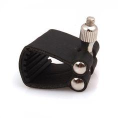 DN Black Leather Ligature For Soprano Saxophone Mouthpiece
