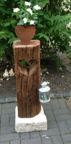 Holz Deko  - www.eichenbalken-mal-anders.jimdo.com