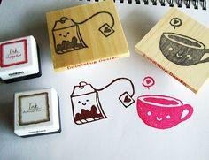 Kawaii Tea Party Stamps