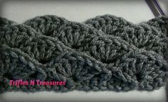 Floating Shells ~ Perfect for a warm & comfy blanket: free crochet pattern