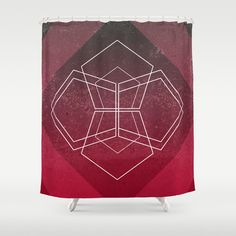 Geometric - Pink Shower Curtain
