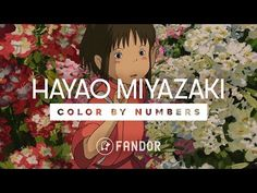Color by Numbers: Hayao Miyazaki Animation Classes, Animated Icons, Color By Numbers, Classroom Walls, Hayao Miyazaki, Whimsical, Arts And Crafts, Palette, Japanese