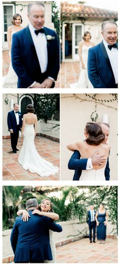 Bride's first look with dad! Such a special moment that you'll remember forever! This Villa Woodbine wedding in Miami Florida is full of romantic touches classic & timeless details and Mediterranean vibe!e the camera it can Wedding Photo List, Wedding Picture Poses, Wedding Photography Poses, Wedding Poses, Wedding First Look, Dream Wedding, Must Have Wedding Pictures, Miami Wedding Photographer, Casual Wedding