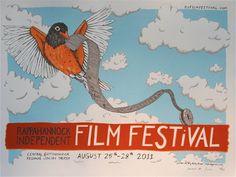 RIFF Film Festival 2011 by IttyBittyPress on Etsy, $25.00