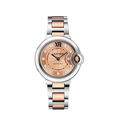 Cartier Ballon Bleu De Cartier 18Kt Pink Gold Dial Ladies Watch W3BB0002 -- Check this awesome image