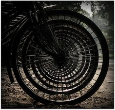 concentric circles - #bicycle wheels