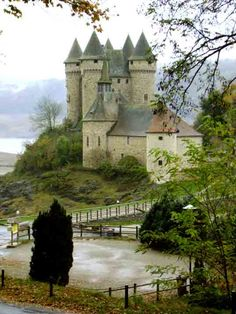 Château de Val ~ a former stronghold in the 13th century and restored many times in the town of Lanobre, France