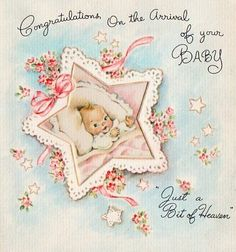 Love These Vintage Baby Cards
