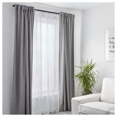 IKEA - ALVINE SPETS, Net curtains, 1 pair, The net curtains let the daylight through but provide privacy so they are perfect to use in a layered window solution.The slot heading allows you to hang the curtains directly on a curtain rod. Layered Curtains, Double Curtains, Lace Curtains, Curtains With Blinds, Blackout Curtains, Curtain Panels, Vintage Curtains, Short Curtains, Grey Linen Curtains
