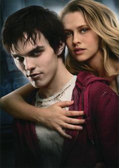 Warm Bodies, such an awesome, awesome movie! And the guy who plays the main corpse R is pretty attractive;) Black hair and blue eyes, perfect!