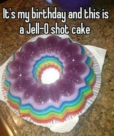 My birthday isn't until July but I'll take one of these now! I make the best jello shots. I'll have to make one of these for our next summer bbq!