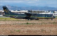New aircraft sent from Italy to the Malaga air base, to cover the FRONTEX service, over the southern Mediterranean. It has a new decoration and colour in its livery, different from the white and grey livery, of its other aircraft. New Aircraft, Civil Aviation, Malaga, Southern, Base, Italy, Colour, Decoration, Grey
