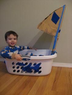 Laundry Basket Sail Boat