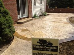 stamped patio with fire pit | Concrete Driveways Stamped Concrete Concrete Patios Sidewalks Mason ...