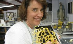 Cheryl with her tape sculpture!