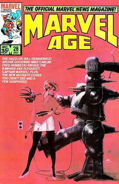 Marvel Age cover by Bill Sienkiewicz