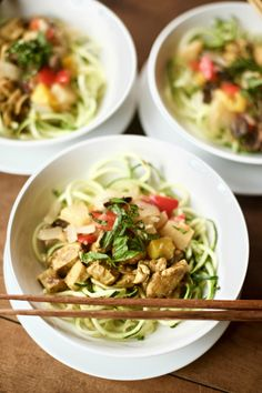 Zucchini Noodle Curry